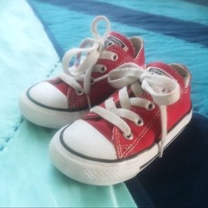 Kids Red Converse Shoes